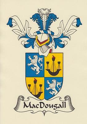 Scottish Heraldic Coat Of Arms A4 Parchment Paper Print For Your Name.