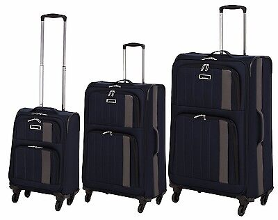 Wagner Luggage flip Reisekoffer 3-tlg. trolley Superleicht 4-Rollen Kofferset