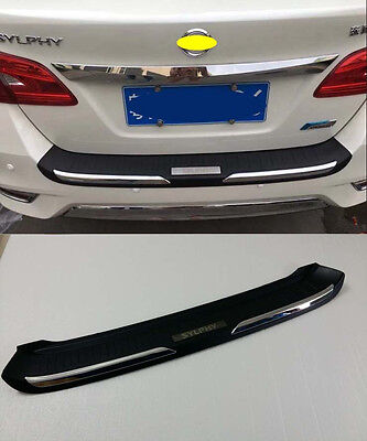 Rear Bumper Protector Cover Trim for 16-19 Nissan Sentra Sylphy Black Plastic