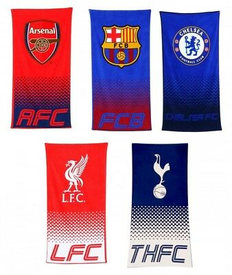Football Team Supporter Soccer Beach Bath Towel Fan Gift Fade Style Gym Official