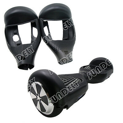 """Black Silikon Cover Schutzhülle For 6.5"""" Hoverboard Balance Scooter 2 Wheels New"""