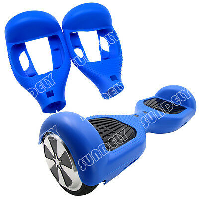 """Blue Silicone Protective Case Cover For 6.5"""" Self Balancing Scooter Hoverboard"""