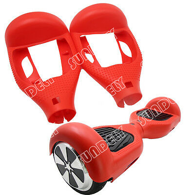 """Red Silicone Protective Case Cover For 6.5"""" Self Balancing Scooter Hoverboard"""