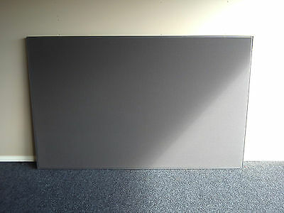 SCHIAVELLO OFFICE PARTITION ~ 2100mm x 1300mm ~ LIGHT GREY with METAL FRAME