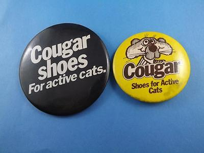 Cougar Shoes For Active Cats Mascot  Button Pinback Advertising Lot