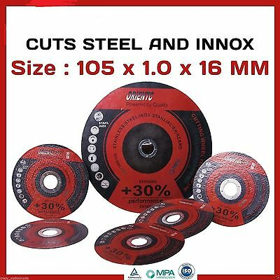 "20 X 100Mm 4"" Cutting Discs Wheels Angle Grinder Cut Off Metal Steel Thin Flap"