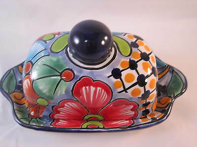 Talavera Ceramic Butter Dish - Hand Painted in Mexico