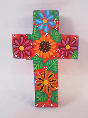 Hand Crafted Oaxacan Art - 3 1/4 inch Cross
