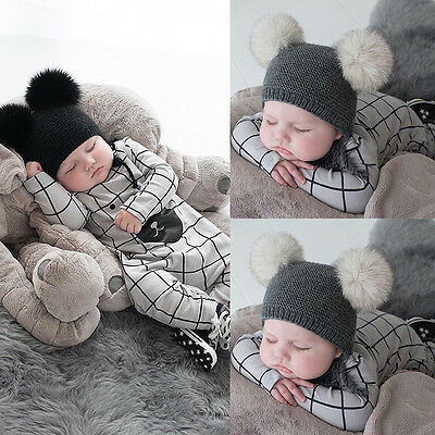 Newborn Infant Baby Boy Girl Bear Jumpsuit Romper Bodysuit Outfits Kids Clothes