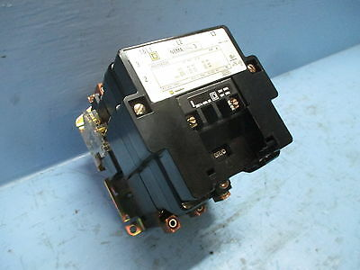 Square D  8502SEO2S Size 3 Motor Contactor 120V Coil 8502-SEO2-S 31074-400-38