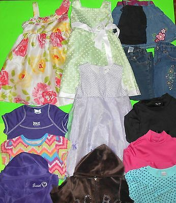 14 Pc Lot Girl's Size 4T, 5T, 4, 4/5 Clothing