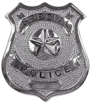 Silver Special Police Shield Badge