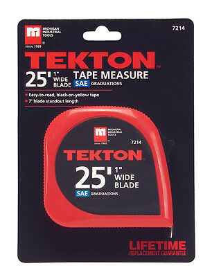 TEKTON 25' x 1in Tape Measure