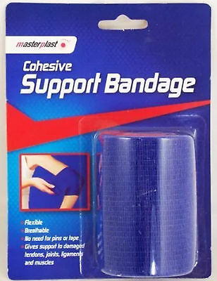 COHESIVE SUPPORT BANDAGE FLEXIBLE BREATHABLE STRAP 7cm x 4m 1027 SELF FASTENING