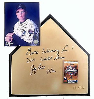 Jay Bell World Series Signed Official Home Plate Arizona 2001 Game Winning Run