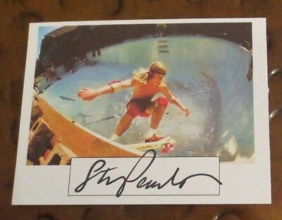 Stacy Peralta signed autographed pic Skateboarding Legend Dogtown Z-Boys Zephyr