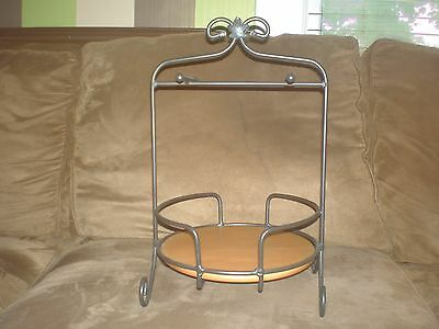 Longaberger Wrought Iron Buffet Server with WoodCrafts Shelf