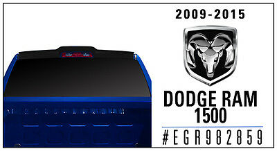 For: DODGE RAM 1500; 982859 Truck Cab Spoiler MATTE BLACK 2009-2016
