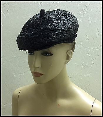 Antique Vintage 1920's French Art Chiffon Straw Bee Hat Original Never Used