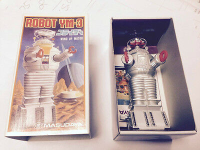 "1985 Masudaya Japan 4.5"" Lost In Space Robot Ym-3 Wind Up"