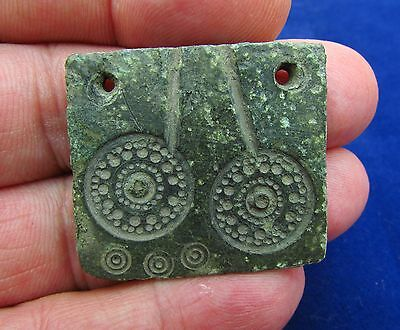 Scandinavian Bronze Cast Pewter for Solar / Sun Appliques  8-10th AD (1397-)