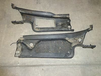 2000-2005 Cadillac Deville Cowl Panel Assembly Wiper Motor Cover Set Pair OEM