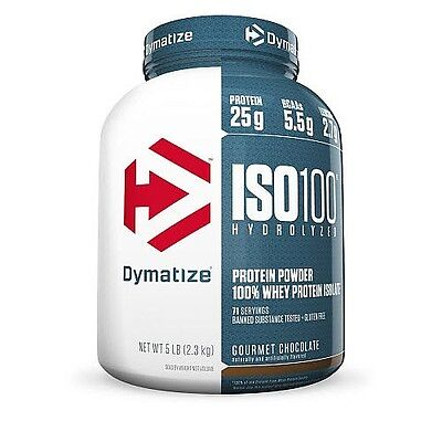 Dymatize Nutrition Iso 100 5Lb Hydrolyzed 100% Whey Protein Isolate Discounted