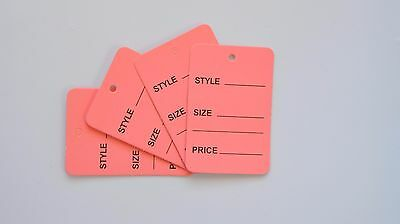 2000 Pink Merchandise Price Jewelry Garment Store Paper Small Tags 4.5x2.5cm