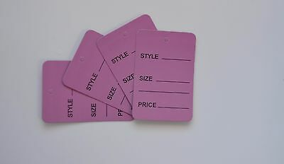 2000 Purple Merchandise Price Jewelry Garment Store Paper Small Tags 4.5x2.5cm
