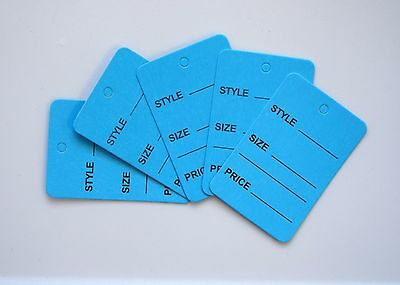 2000 Blue Merchandise Price Jewelry Garment Store Paper Small Tags 4.5x2.5cm