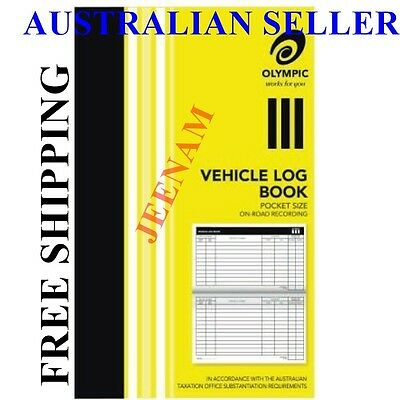 Olympic Pocket Vehicle Log Book 180 x 110mm 64 Page Car truck ATO requirement