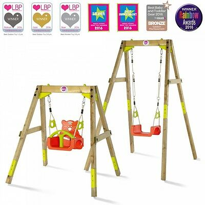 NEW Plum Wooden Growing Swing Set 3 in 1 Seat Sustainable Timber Outdoor Toddler