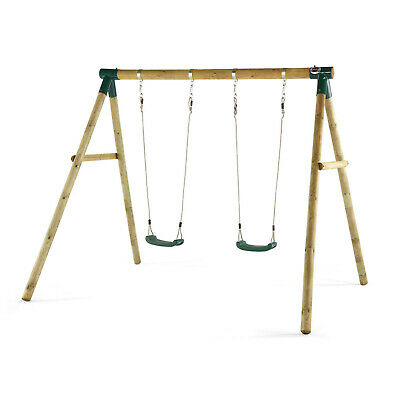 NEW Plum Wooden Marmoset Swing Set Plastic Seats Sustainable Timber Outdoor Play