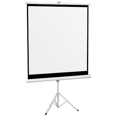 70'' 125x125cm  Tripod Compact Portable Projector Projection Screen Matte White