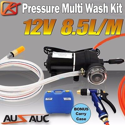 KENNER 12V Washdown Pump Kit 100PSI Deck Wash Caravan Boat High Pressure Washer