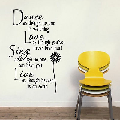 Daisy Dance Love Sing Live Removable Wall Sticker Funny Decal Art Home Decor