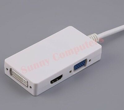 USB 3.0 to HDMI DVI VGA 3-in-1 Adapter Multi Function HDTV HD Video Converter AU