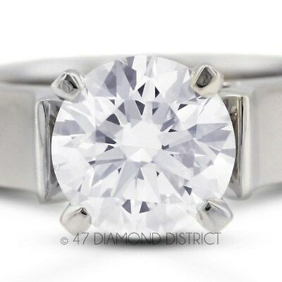 2.08ct. G-SI2 VG Round Certified Diamond 14K Gold Cathedral Solitaire Ring 7.1gm