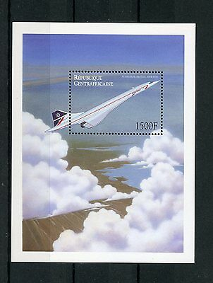 Central African Rep 2000 MNH Aviation 1v S/S II Concorde British Airways Stamps