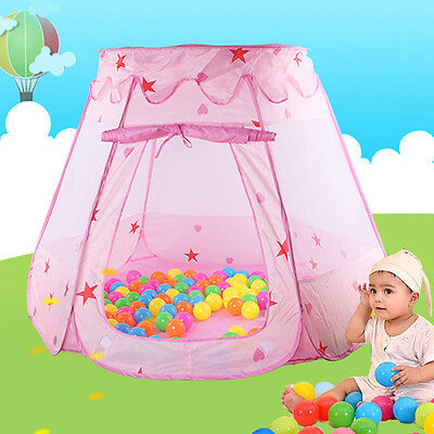 Folding Portable Outdoor Kids Children Princess Palace Castle Play Tent Fun Toy