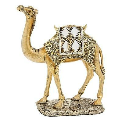 New Mirror and Gold Camel Standing Statue Ornament Figurine 21cm 65030