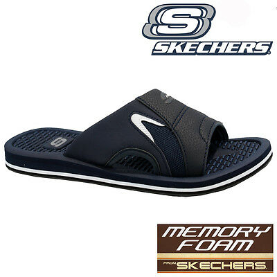 Skechers Mens Memory Foam Holiday Beach Gym Shower Flip Flops Mules Sandals Size