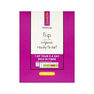 Organic Ready To Eat Soft Dried Figs Waitrose Love Life 250g