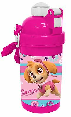Nickelodeon Paw Patrol Skye Kids Childrens Drinks Water Pop Up Bottle 500ML