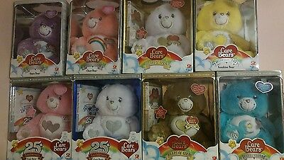 Care Bearsears Collectable Swarovski crystal eyes set of 8 NIB
