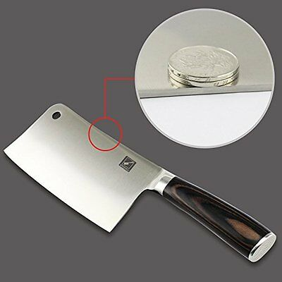 """7"""" chef Germany Stainless Steel Butcher Knife Heavy Duty Meat Cleaver Chopper"""