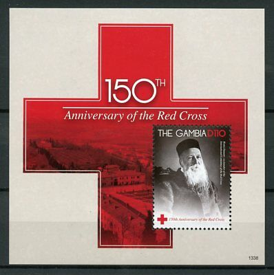 Gambia 2013 MNH Red Cross 150th Anniv Henri Dunant 1v S/S Medical Stamps