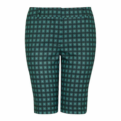 NEW Cutter & Buck Annika Payton Printed Ladies Golf Shorts Womens Trousers