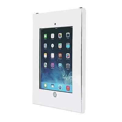 WHITE Anti Theft Secure Enclosure Case Wall Mount Apple iPad 2 3 4 Air 2 V2