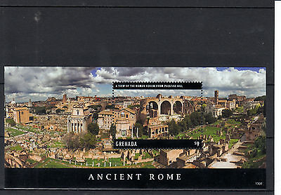 Grenada 2013 MNH Ancient Rome 1v S/S Roman Forum Palatine Hill Historical Stamps